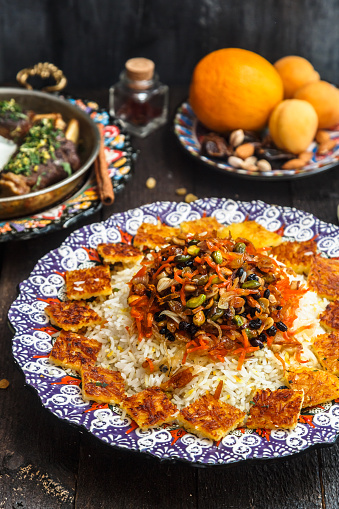 istock Close view of shirin polo persian traditional rice 932448656