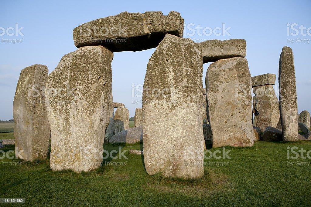 Close View of Stonehenge Horizontal stock photo
