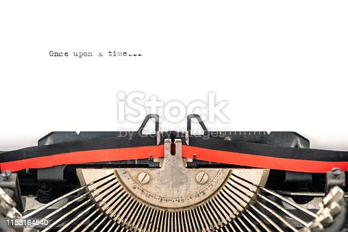 istock close view of vintage typewriter ready to type 1153164540