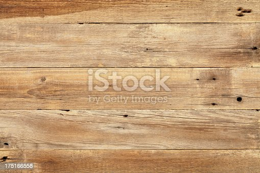 istock Close view of wooden plank table 175166558