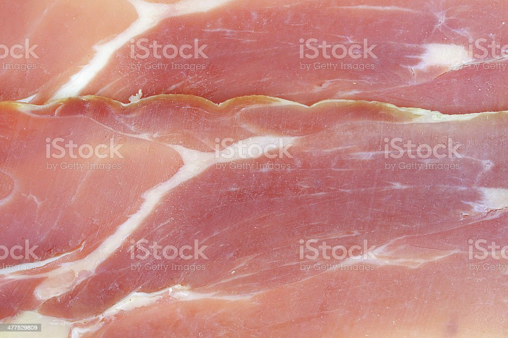 Close view prosciutto ham royalty-free stock photo