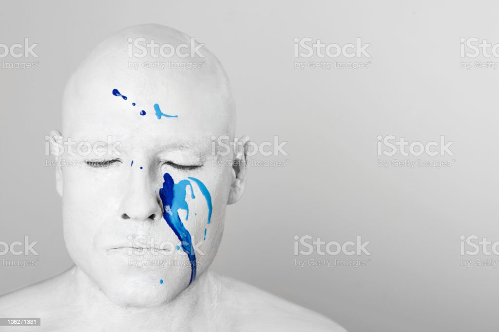 Close your eyes royalty-free stock photo