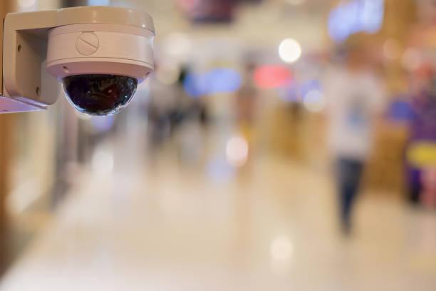Schließen-Curcuit Fernsehen CCTV Sicherheit im Büro unscharf für Speicherung Vedio anti-Diebstahl und Kriminalität in Ort im Hintergrund. – Foto