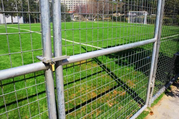 Fermé 5 x 5 stade de terrain de football - Photo