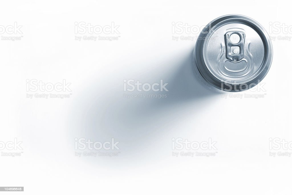 Closed aluminum beer can stock photo