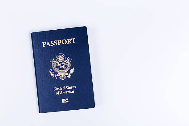 Closed american passport – Foto