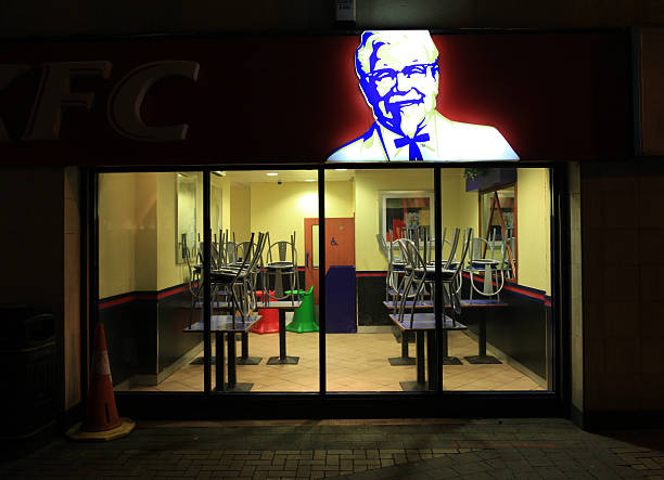 Closed and cleaned KFC stock photo