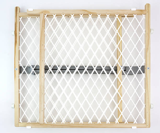 Closed Baby Gate stock photo