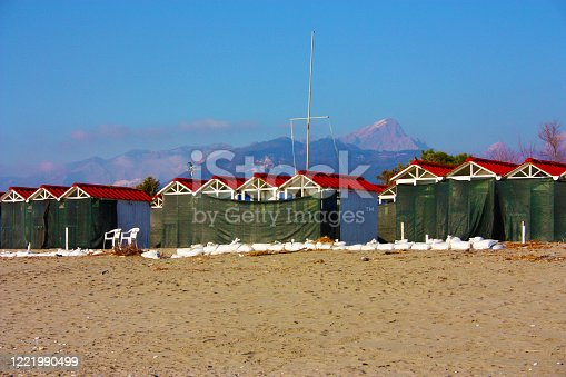 closed beach resorts locked in quarantine in summer in tuscany
