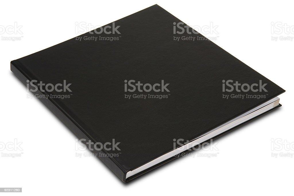 Closed black book set on white background royalty-free stock photo