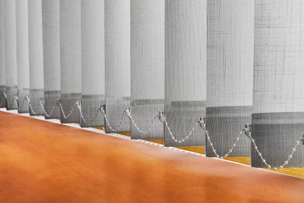 closed blinds (curtains) - blinds stock pictures, royalty-free photos & images