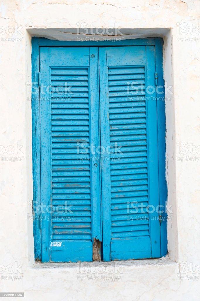 fechado portadas azuis - foto de acervo