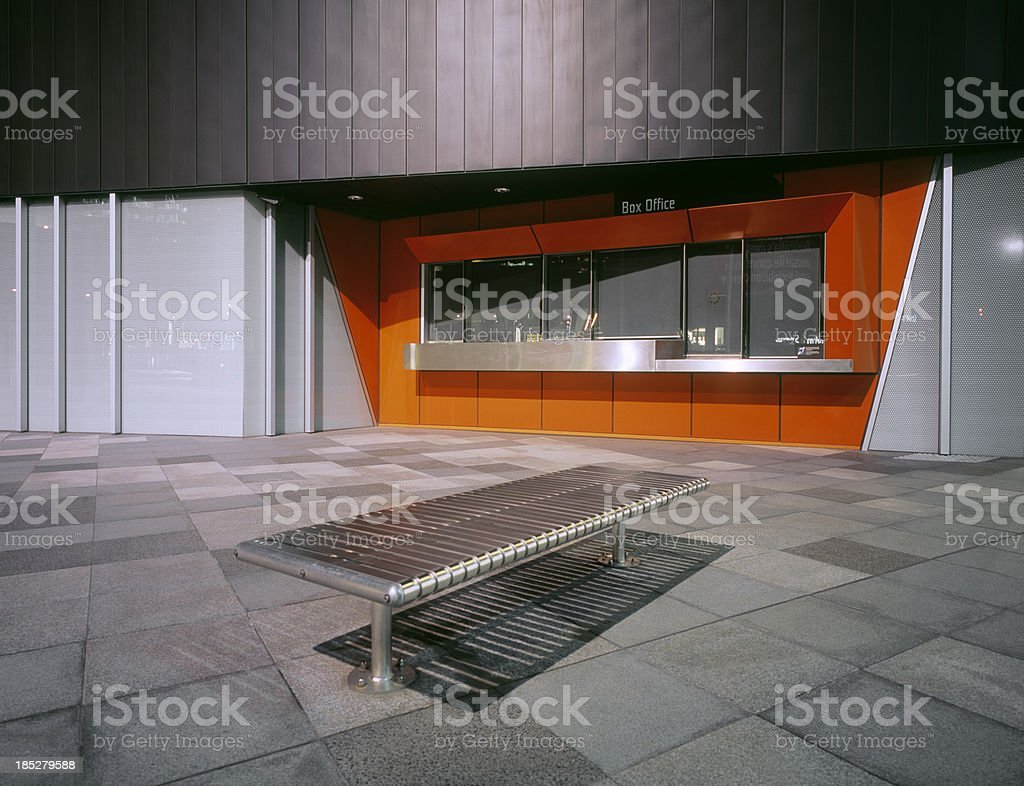 Closed box office stock photo