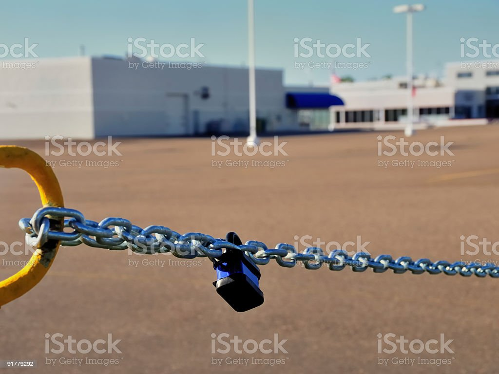 Closed Business - Car Dealership royalty-free stock photo