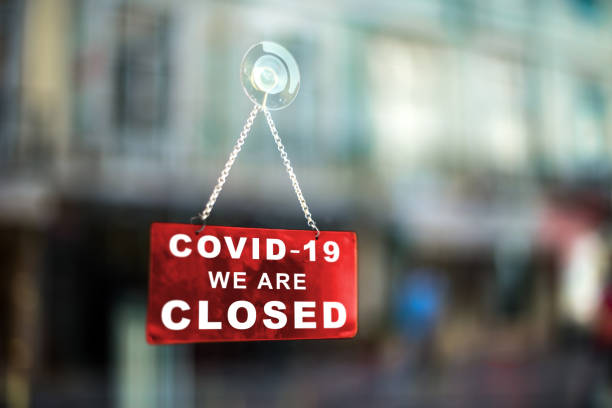 Closed business due to Coronavirus stock photo