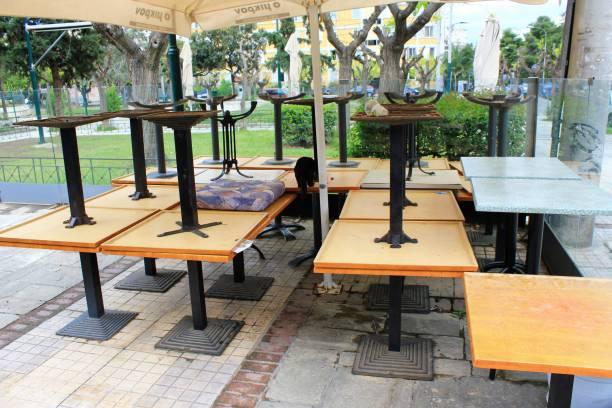 Café-restaurant fermé pendant le confinement du Coronavirus. - Photo
