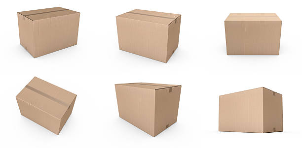 Karton Kartons geschlossen – Foto