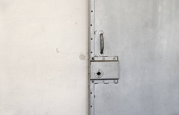 Closed Cell Door stock photo