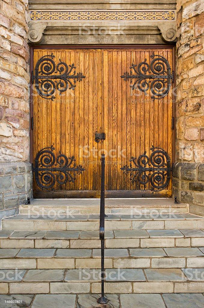 Closed Church Doors royalty-free stock photo