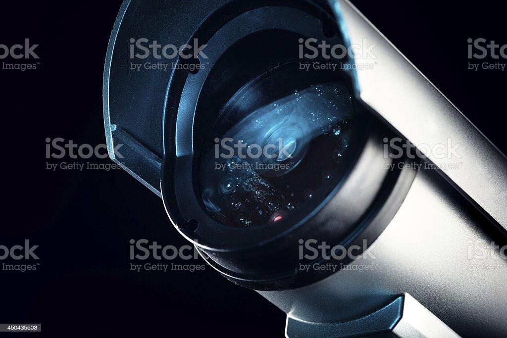 Circuito fechado de televisão câmera de segurança - foto de acervo
