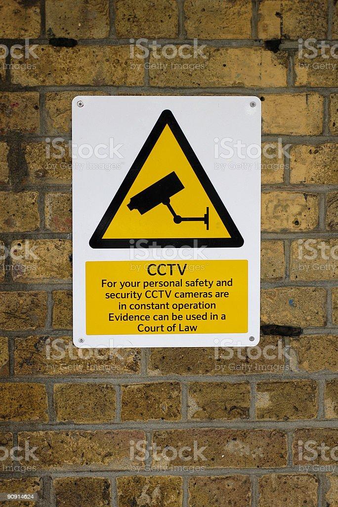 Closed Circuit TV Warning Sign royalty-free stock photo