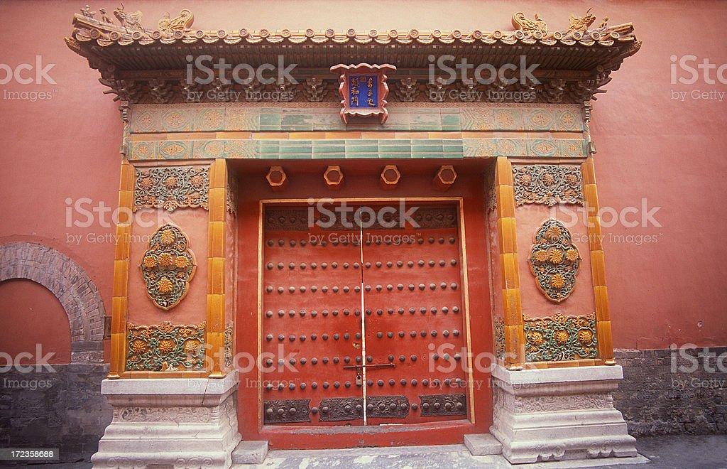 Puerta cerrada, la Ciudad Prohibida foto de stock libre de derechos
