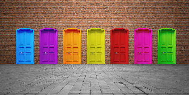 closed doors - definite stock pictures, royalty-free photos & images