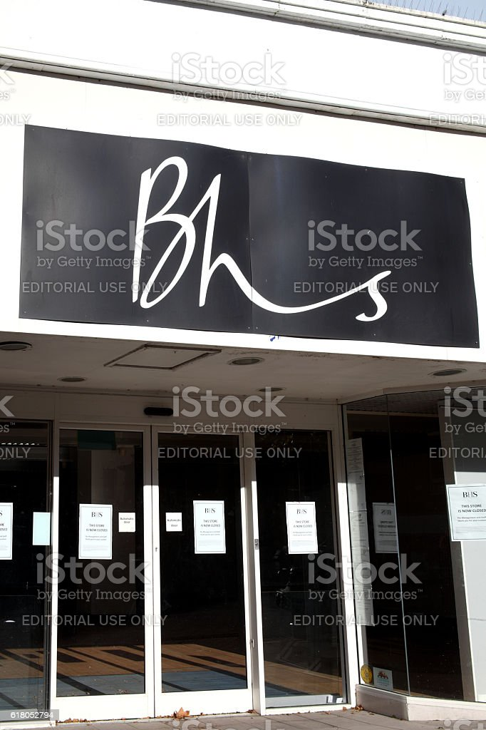 Closed down BHS department store stock photo