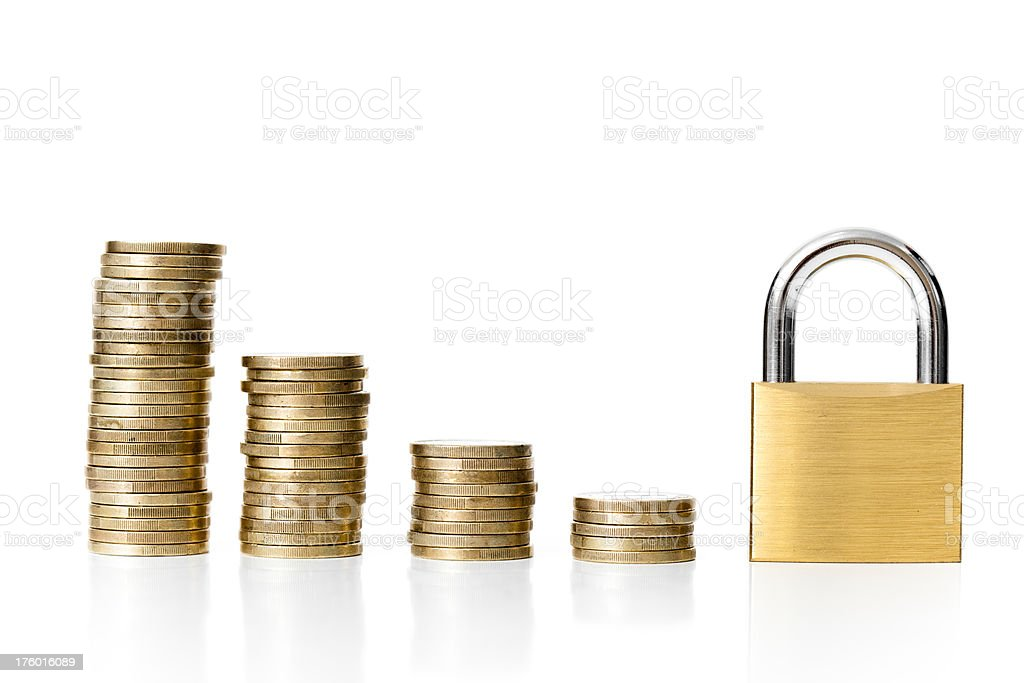 Closed down royalty-free stock photo