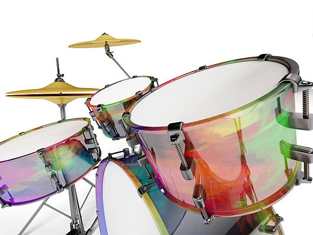 Closed drum set stock photo