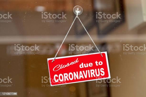 Closed Due To Coronavirus Stock Photo - Download Image Now