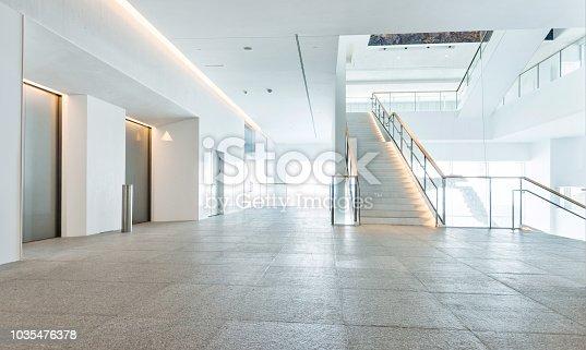 Closed elevator in public building.