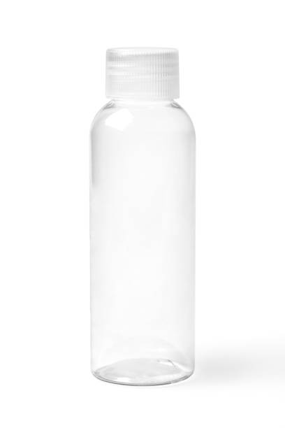 Closed Empty Transparent Plastic Bottle stock photo