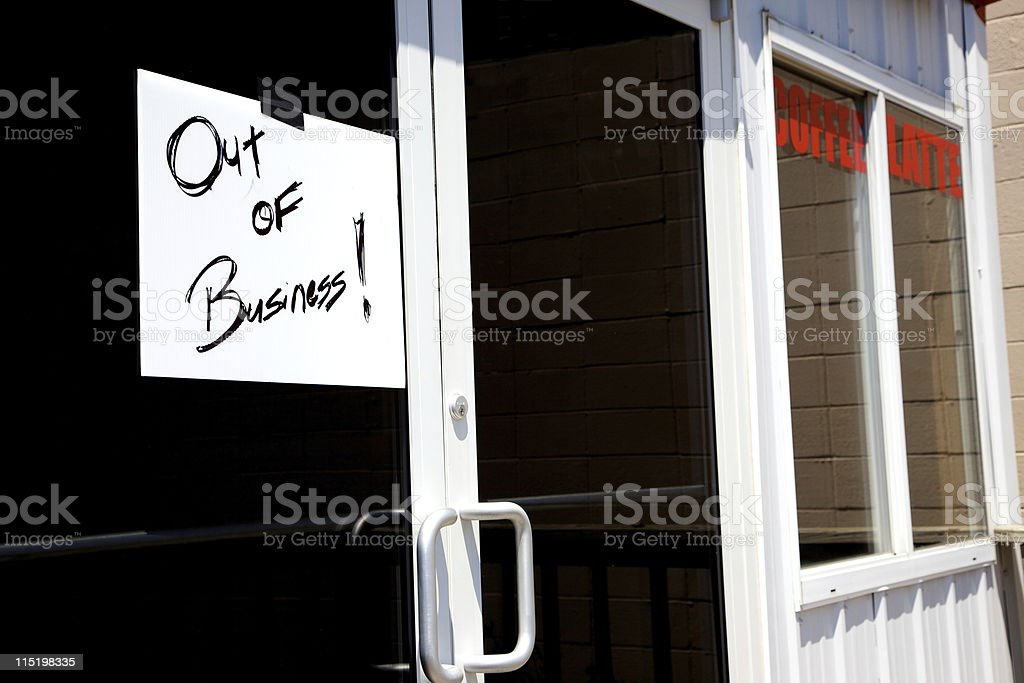 closed espresso bar royalty-free stock photo