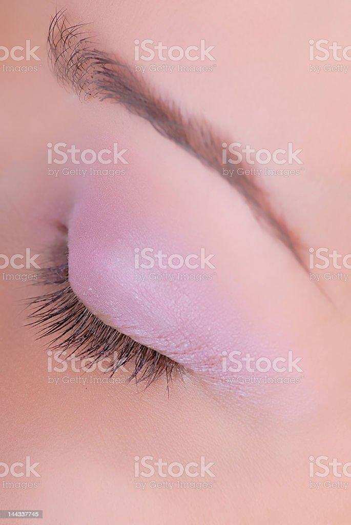 closed eye royalty-free stock photo
