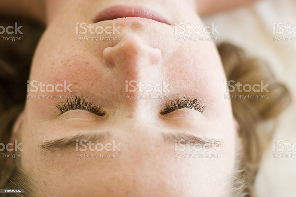 Closed Eyes stock photo