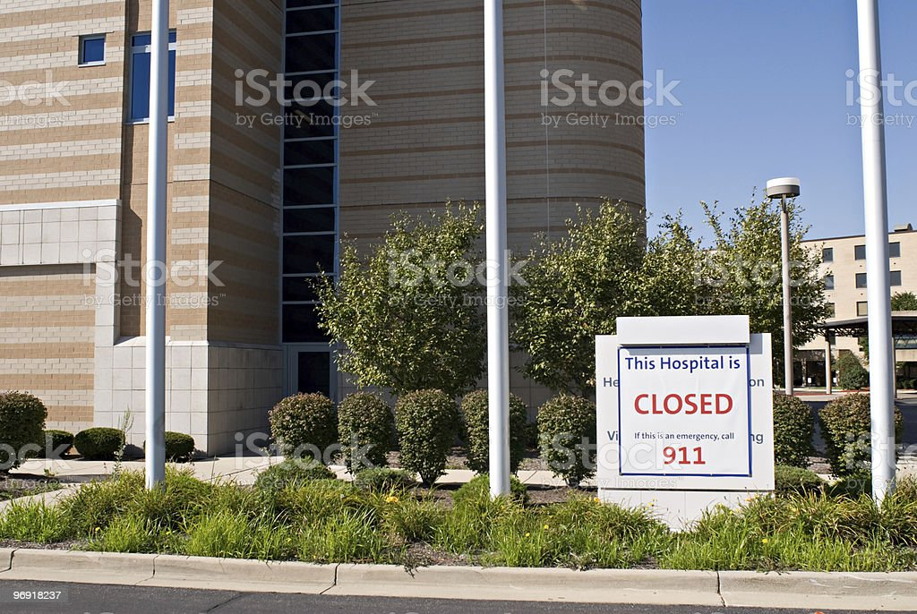 Closed Facility royalty-free stock photo