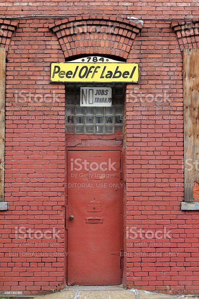 Closed factory, no jobs royalty-free stock photo