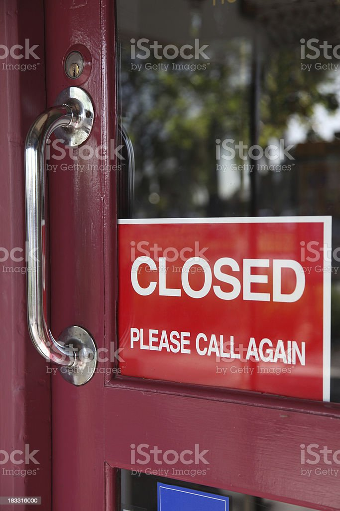 Closed for business royalty-free stock photo