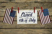istock Closed for the 4th of july 1156522613