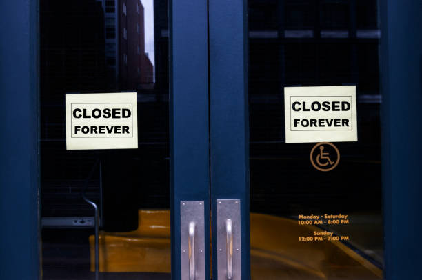 Closed Forever Business with /closed forever signs eternity stock pictures, royalty-free photos & images