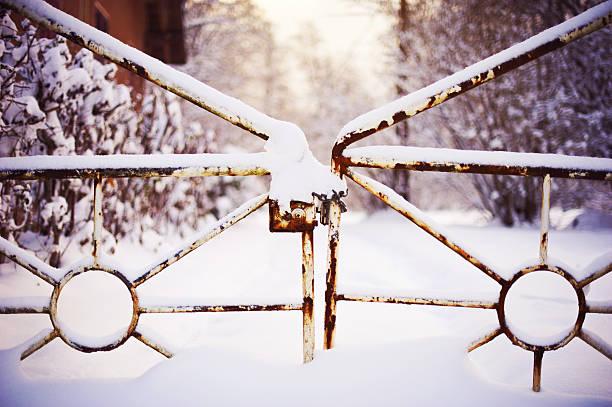Puerta cerrada congelado - foto de stock