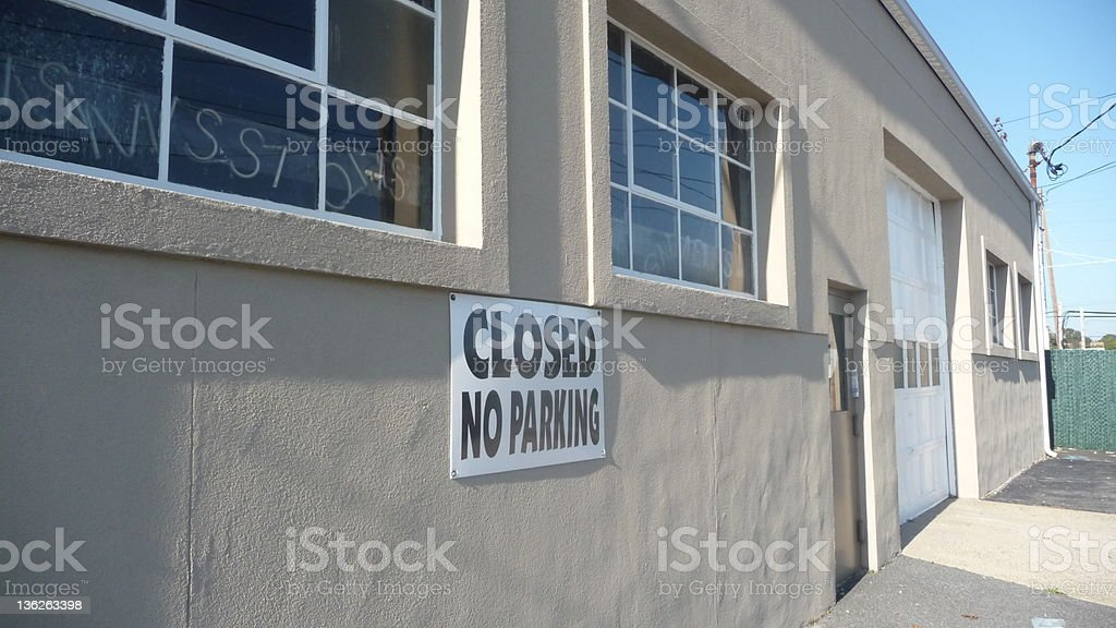 closed garage out of business royalty-free stock photo