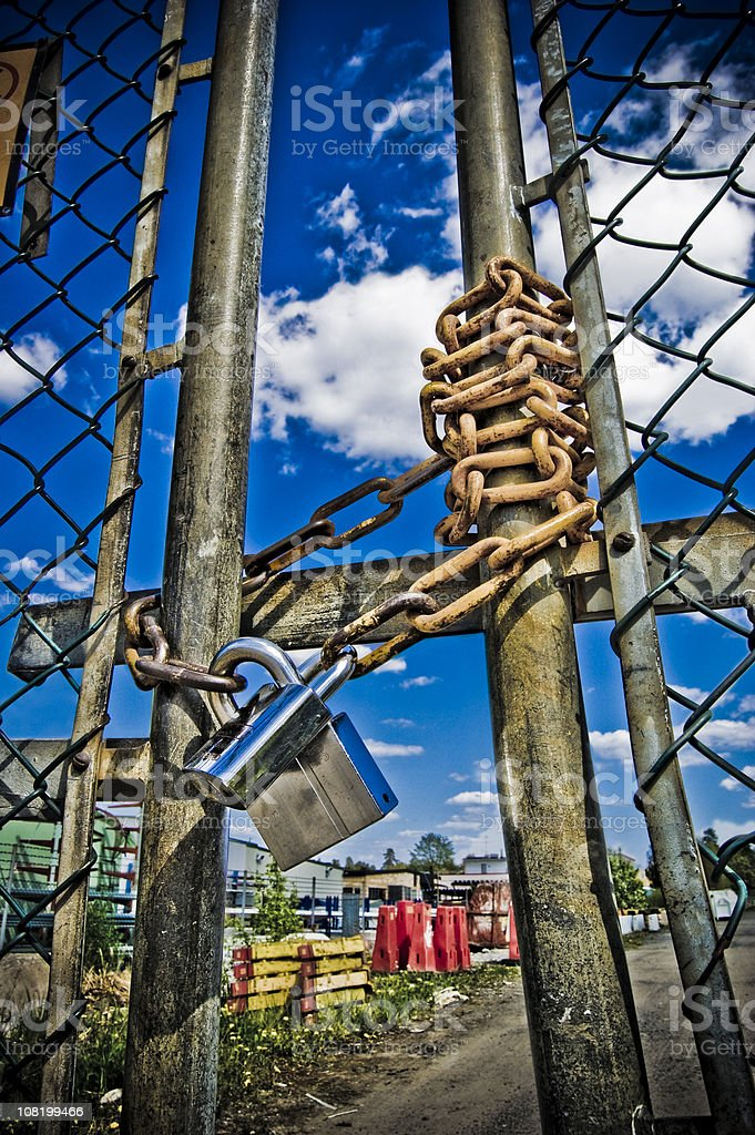 closed gate royalty-free stock photo