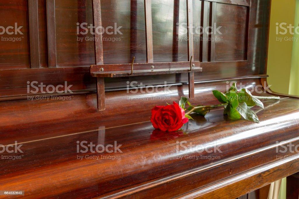 closed grand piano stock photo