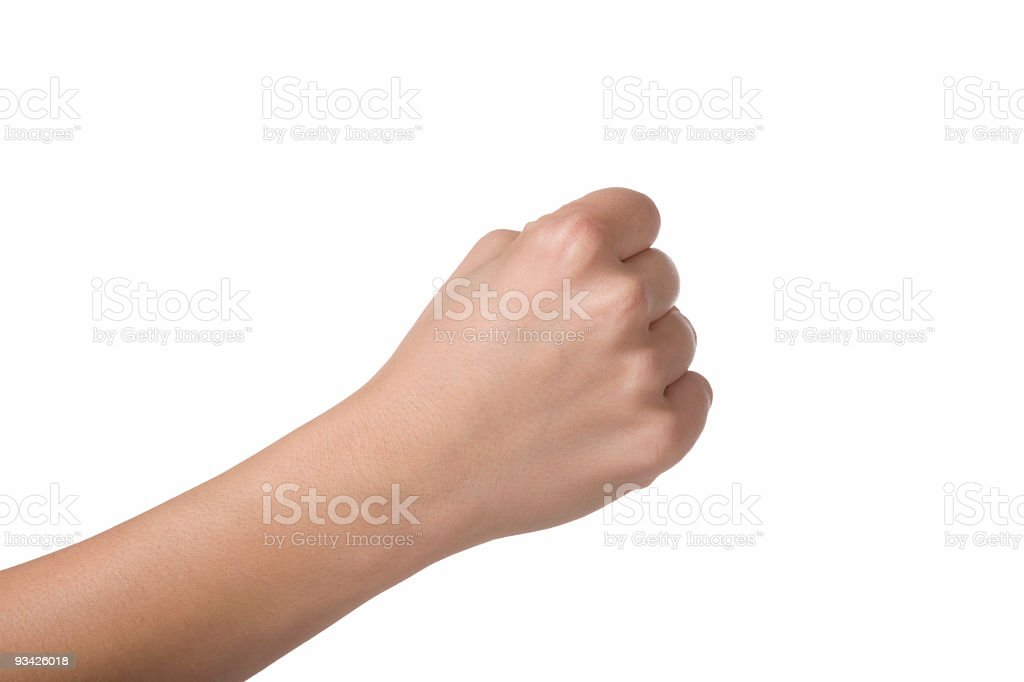 closed hand royalty-free stock photo