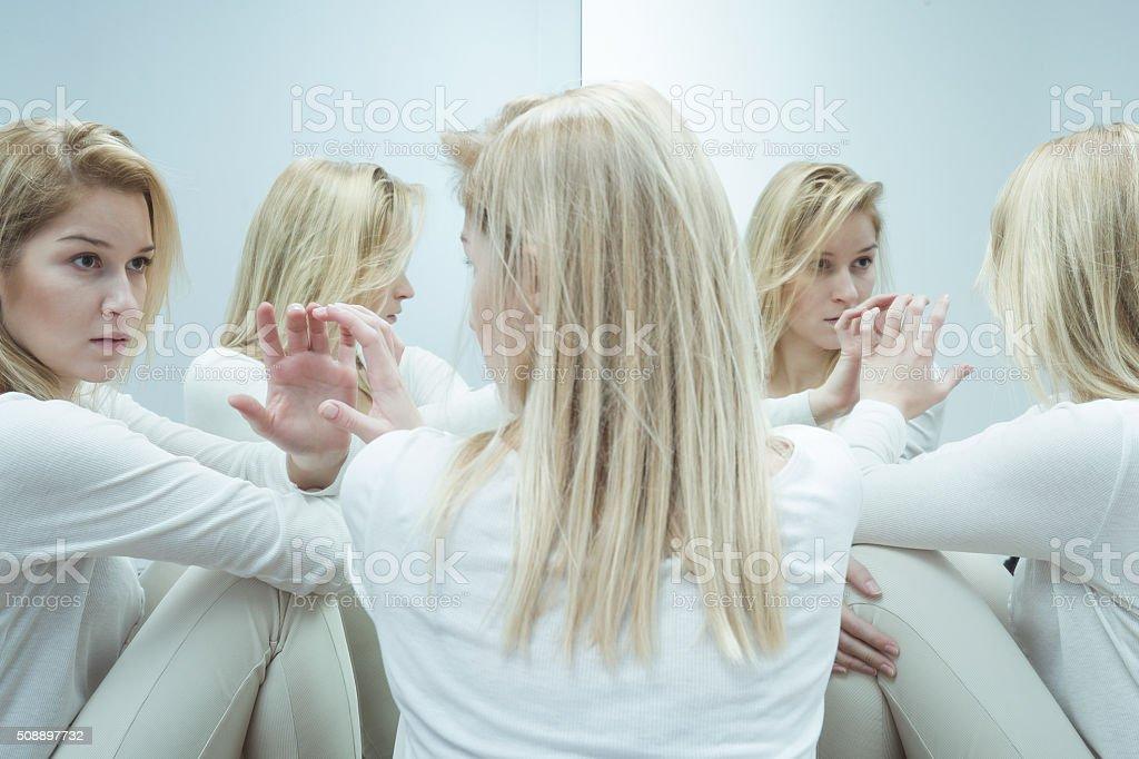 Closed in psychiatric hospital stock photo