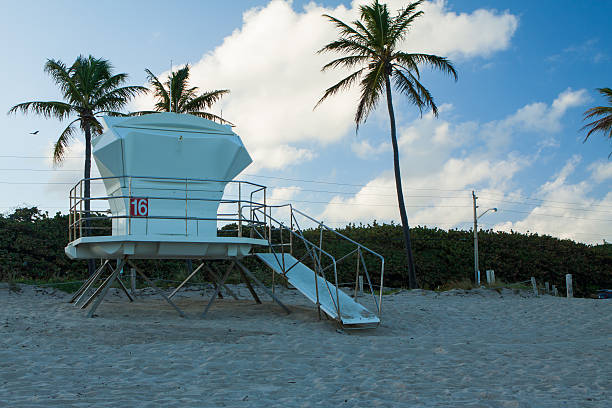 Closed Lifeguard Stand stock photo
