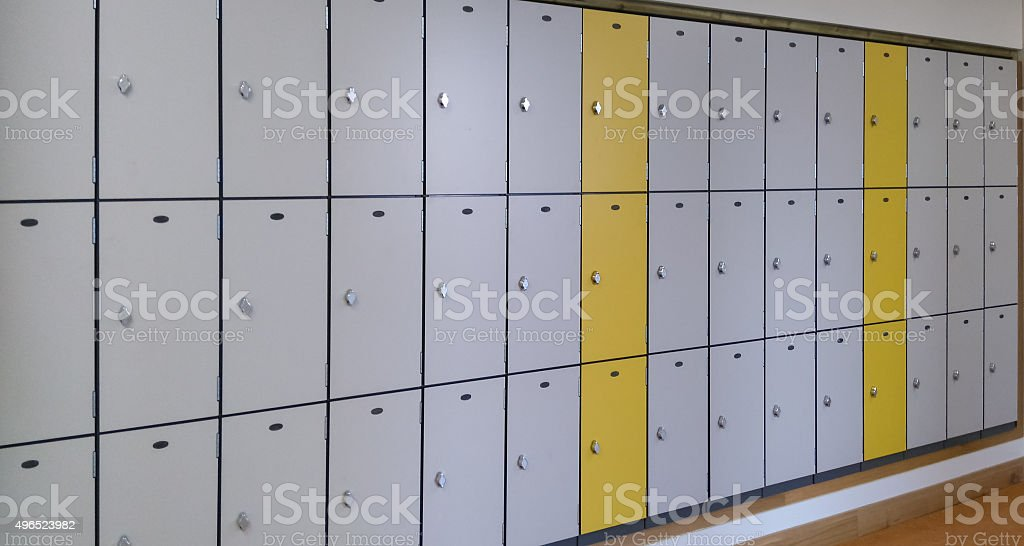 Closed Lockers stock photo