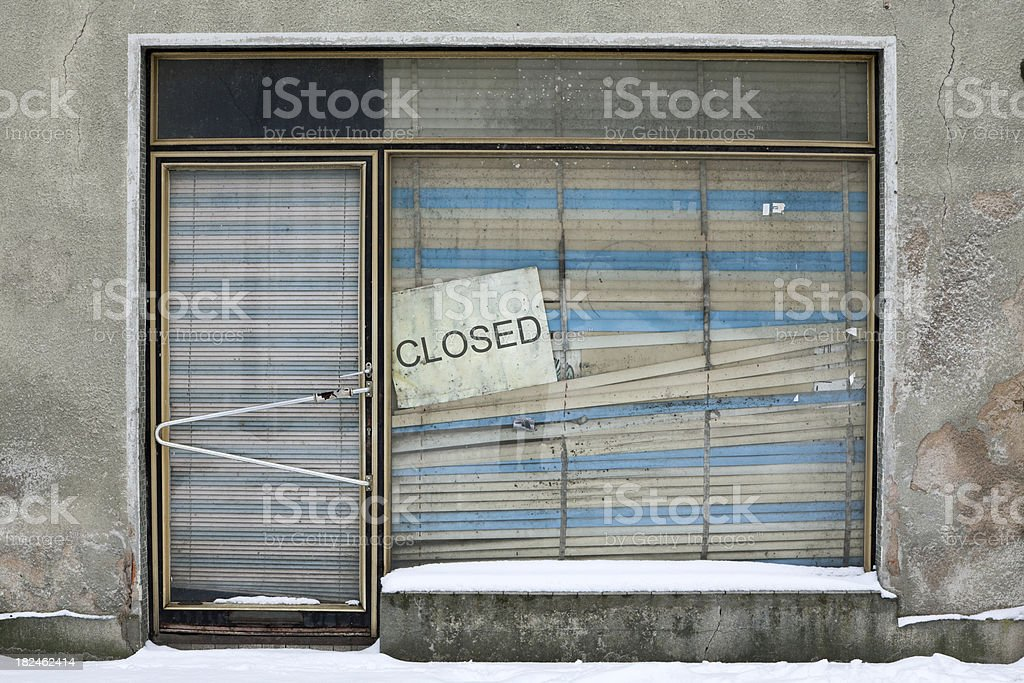 Closed Mom And Pop Store royalty-free stock photo